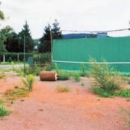 Es ist kaum zu glauben, das hier jemals Tennis gespielt wurde.