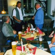 Aber zurvor gabs noch eine richtig gute Feier bei zünftigem Essen und einem guten Bier.