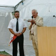 Der Besuch von Erhard Schramm aus Hamburg freute uns besonders, war er doch einer der bekanntesten Olbernhauer Tennisspieler.