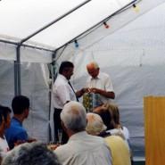 Glückwünsche von Heinz Morbach vom sächsischen Tennisverband.