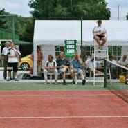 Tennispräsentation der marena Tennishalle, da konnte sich jeder noch was abgucken.