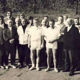 Mitglieder der BSG Stahl Olbernhau im Jahr 1968.