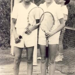 Kreismeisterschaften 1967 mit Peter Mühl (links).