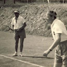 Werner Freymuth und Harry Pertermann im Doppel gegen Wismut Aue.