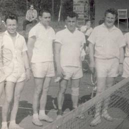1. Mannschaft BSG Stahl Olbernhau von 1956/1957 mit Erhard Hänel, H.-J. Bauer, Rudolph Ducke, Rolf Liebers, Peter Biber und Hans Oelmann.