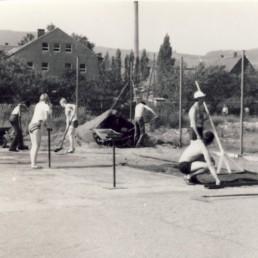Bau der ersten Tennis-Anlage auf dem heutigem Gelände des Olbernhauer TC (11.06.1981).