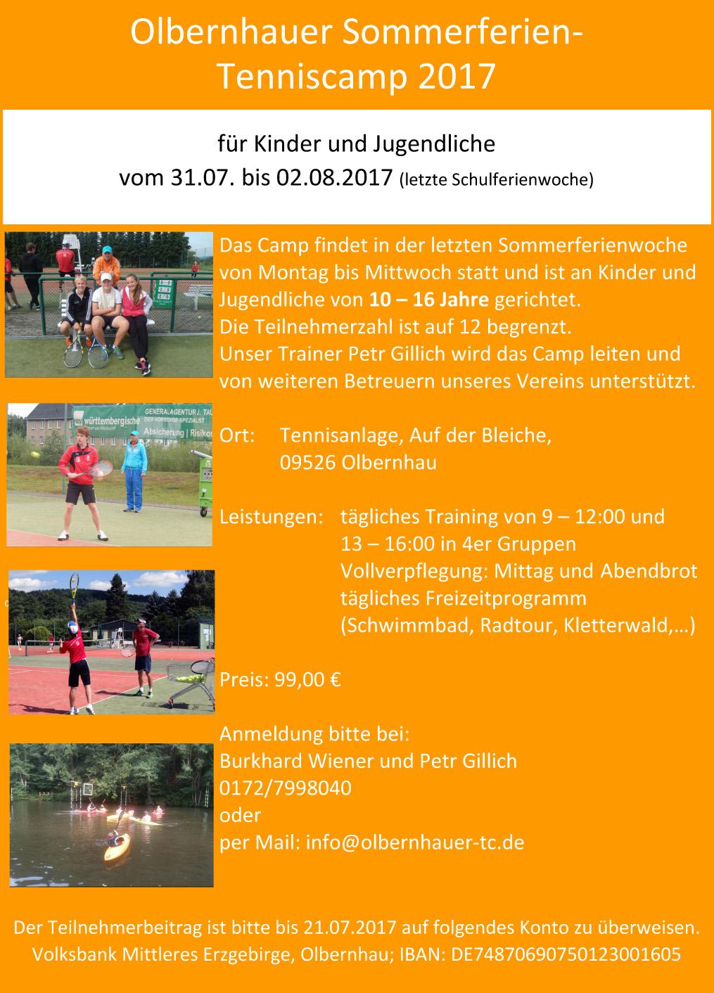 Plakat Trainingslager 2017